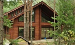 Дом из бруса в стиле шале