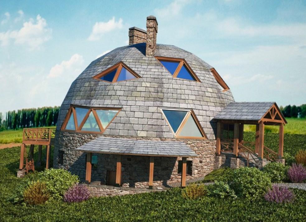 дом в виде купола