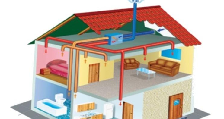 Схемы вентиляции в каркасном доме