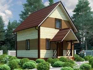 каркасный дом 6х6 на даче