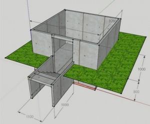 схема и размеры погреба