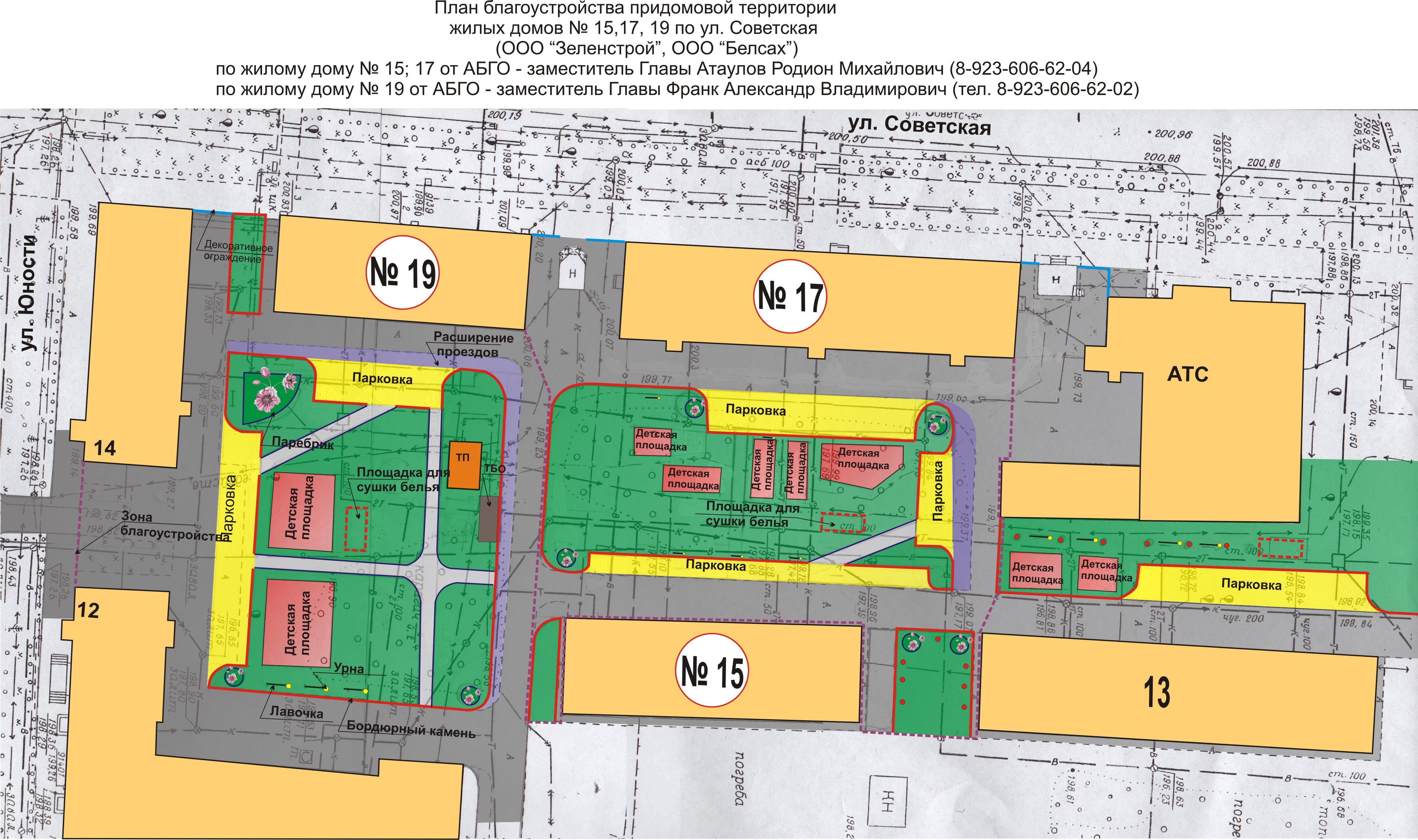 Схема придомовой территории дома
