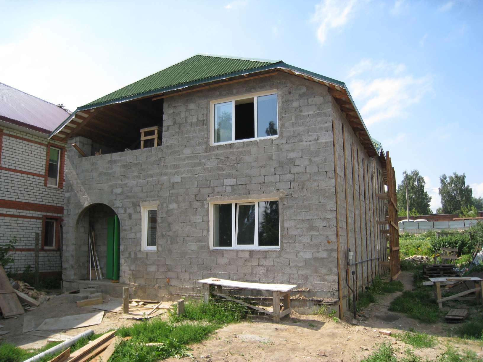 Дом из блоков своими руками проекты фото