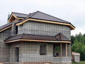монолитно-кирпичный дом