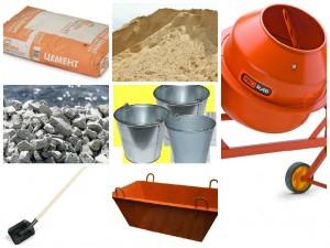 предметы для замеса бетона