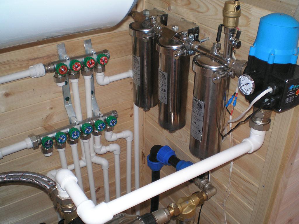 схема проведения водопровода в частном доме
