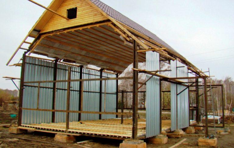 Каркасный дом из профильной трубы пошаговая инструкция
